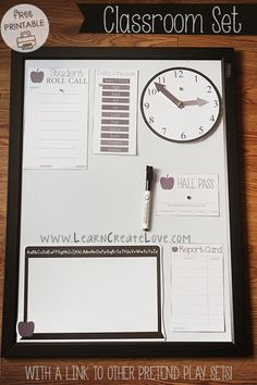 Pretend Play Classroom Set | LearnCreateLove.com