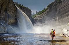 Vaureal Falls in Anticosti National Park- Quebec, Canada. Parc National, Banff National Park, Camping In Pennsylvania, California Camping, Southern California, Travel Sights, Parks Canada, Visit Canada, Camping World