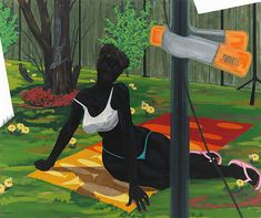 Kerry James Marshall Untitled (Beach Towel) - 2014