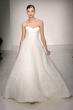 Amsale – Bridal Fall 2013    TAGS:Floor-length, Strapless, Train, White, Ivory, Amsale, Satin, Silk, Princess, Romantic