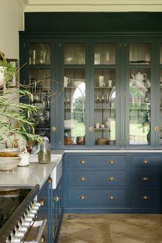 Blue Kitchen Storage