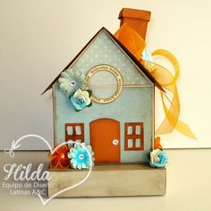 Hilda Designs: Reto #27: Combo Color y Vellum en LAC,  3D HOUSE SET de The Cutting Cafe
