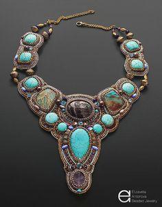 Beautiful bead embroidery by Elizaveta Antonova