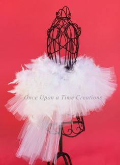 The Infant Swan Tutu Pure White Feather by OnceUponATimeTuTus, $29.99