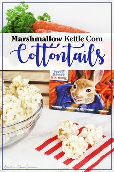 We love our Family Movie Nights and this time we're watching #PeterRabbit! In honor of our movie pick, I made these scrumptiousMarshmallow Kettle Corn Cottontails for everyone to munch on during the film. They're bite-sized, gooey popcorn treats that are so easy, they take just minutes to throw together. #WelcomeToFamilyNight [ad]