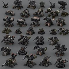 Elevate your workflow with the - Wargear Turrets asset from Find this & other Sci-Fi options on the Unity Asset Store. Robot Concept Art, Weapon Concept Art, Game Concept, Tower Defense, Starship Concept, Space Battles, Future Weapons, Spaceship Design, Sci Fi Weapons