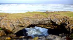 The Fairy Bridges and Wishing Chair sea stacks at Rougey Cliff Walk, Bundoran, County Donegal.
