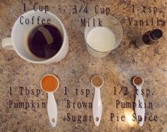 Pumpkin Spice Latte Recipe Ingredients- made in microwave tonight with stevia and it was great