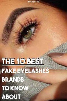 The 10 Best Fake Eyelashes Brands To Know About - Beauty - Eyelash extensions False Eyelashes Tips, Best Fake Eyelashes, Artificial Eyelashes, How To Grow Eyelashes, Applying False Eyelashes, Applying Eye Makeup, Longer Eyelashes, Flase Eyelashes, Best False Lashes