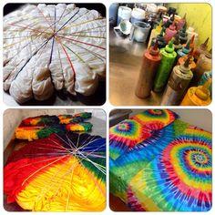 Hand Dyed Queen Sheet Set In Vibrant Rainbow Tie Dye Colors - Psychedelic Bedding How To Tie Dye, How To Dye Fabric, Tye Dye, Shibori, Tie Dye Sheets, Tie Dye Bedding, Diy Tie Dye Shirts, Tie Dye Party, Tie Dye Crafts