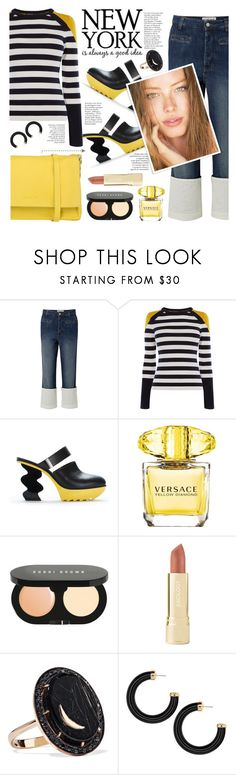 """""""Untitled #557  2/2/18  7:27pm"""" by riuk on Polyvore featuring Loewe, Karen Millen, Versace, Bobbi Brown Cosmetics, Axiology, Andrea Fohrman and Orciani"""