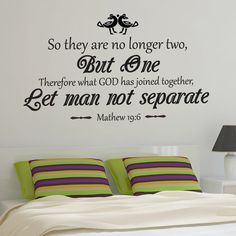 i like this quote - Christian Marriage Wall Decal | Matthew 19:6