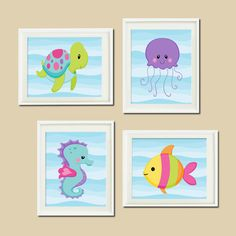 Baby Girl Nautical Ocean Beach SEA ANIMALS by LovelyFaceDesigns, $37.00