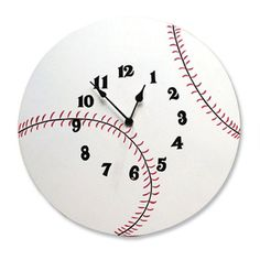 Trend Lab Baseball 12 Inch Wall Clock - 100328, Durable