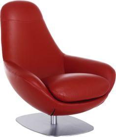 COLE fauteuil pivotant en cuir - Habitat