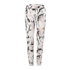 Yoins Vintage Floral Trousers (24 CAD) ❤ liked on Polyvore featuring pants, black, patterned pants, floral pattern pants, floral print trousers, vintage trousers and floral printed pants