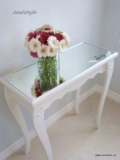 DIY Mirror Topped Furniture