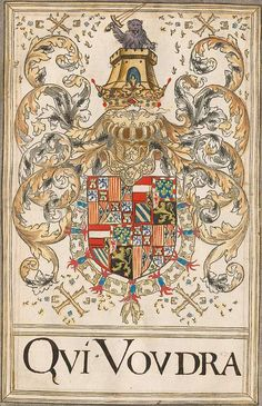Coat of arms of Philip I as Sovereign of the Order of the Golden Fleece. Livre du toison d'or, The Netherlands, 1590.