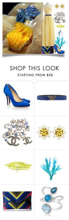 """""""Under the Sea"""" by jeneric2015 ❤ liked on Polyvore featuring Liam Fahy, Just Cavalli, Chanel, Dolce&Gabbana, Danielle Nicole and Effy Jewelry"""