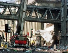 IRA Manchester bomb: On 15th June 1996 a powerful 3,300 pound truck bomb exploded in Corporation Street, Manchester.  It was the largest bomb detonated in Great Britain since World War II