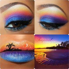 能把大自然的美用彩妝呈現出來,真的要豎起大姆子!