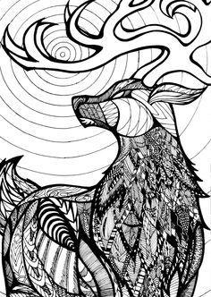 Zentangle Stag by ValexG @ DeviantArt