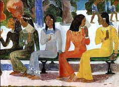 Ta Matete by Paul Gauguin. Oil painting reproduction for sale, Handmade canvas painting. Artist Painting, Artist Art, Painting & Drawing, Gouache, Matisse Paintings, Monet, Van Gogh, Classic Artwork, Impressionist Artists