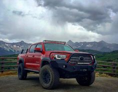shot of our 2016 Toyota Tacoma with our front bumper near Ouray, Colorado