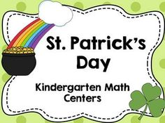 Patrick's Day Math Centers (Kindergarten) - 10 Different Activities! Addition, Subtraction, Counting by Ten Frames, Number Words, and Teen Number Writing! Kindergarten Math Activities, Teaching Resources, Teaching Ideas, Future Classroom, Classroom Themes, March Themes, Math Tubs, Teen Numbers, Number Words