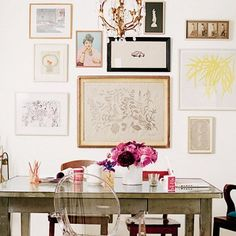 The Do's and Don'ts for Decorating With a Roommate mur de tableaux