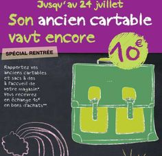 bon plan rentrée scolaire 2012 recyclage cartable Carrefour