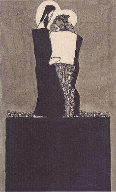 Egon Schiele | Zwei Männer mit Nimben | 1909