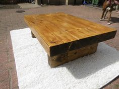 SOLID PINE RUSTIC RECLAIMED STYLE HANDMADE LOW COFFEE TABLE. THIS BEAUTIFUL TABLE HAS ALL THE WARMT