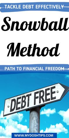 This is a simple guide about the debt snowball method - Follow these steps to pay off debt quickly with the debt snowball method! By using this debt payoff method, you'll pay off your lowest debt first to free up money for your larger debts. Easy to follow and effective method to pay off your debt! #debt #debtsnowball #budget #financetips #savemoney Debt Snowball Spreadsheet, Debt Snowball Calculator, Debt Snowball Worksheet, Budget Spreadsheet, Finance Websites, Finance Books, Finance Tips, Budgeting Finances, Budgeting Tips