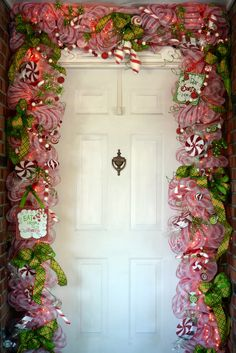 This Christmas door makes me smile.