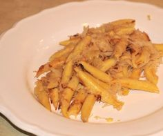 Swabian recipe Schupfnudeln is a regional specialty from the Schwabenland, Swabia. The German dish is made out of potatoes and served with Sauerkraut