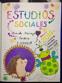 caratulas+Creativas+hechas+a+mano_166 – Carátulas para Cuadernos January Bullet Journal, Bullet Journal Cover Page, Journal Covers, Bullet Journals, Cool Journals, Cute Notebooks, Doodle Frames, Decorate Notebook, Lettering Tutorial