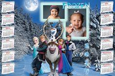 Calendarios para Photoshop: Calendario para el 2017 de Frozen para Photoshop (...