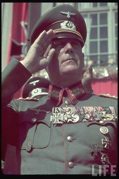 Heldengedenktag. Wilhelm Keitel on Reichs Veterans Day in Kassel, Germany, 4 June 1939. German Army Salute