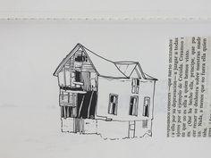 Island house. Journal sketchbook.