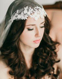 Silk tulle Juliet cap style veil