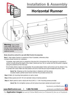 Instructions On How To Install Peg Boards And Tool Board