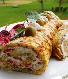 Party Buffet, Greek Recipes, I Love Food, Food And Drink, Appetizers, Gluten Free, Cooking Recipes, Snacks, Meat
