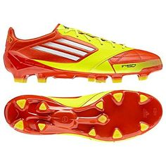 newest f2014 271d5 Adizero F50 Leather in Red Yellow Available for Spring 2012. 604-299-1721
