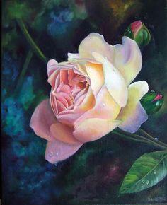 oil paintings of roses