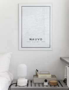 Map poster of Nauvo, Finland. Print size 50 x 70 cm. Custom black and white map posters online. Mapiful.com