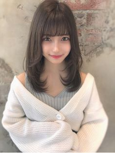 Kawaii Hairstyles, Hairstyles With Bangs, Prity Girl, Japanese Hairstyle, Anime Hair, Cute Asian Girls, Japan Girl, Ulzzang Girl, Hair Inspo