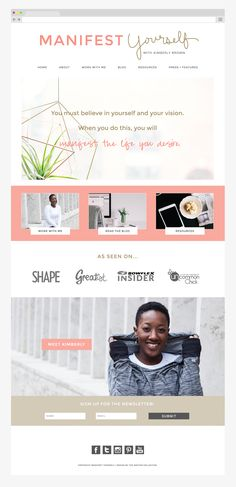 Manifest Yourself Blog and Website Design