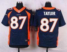 Men's Denver Broncos #87 Jordan Taylor Navy Blue Alternate NFL Nike Elite Jersey