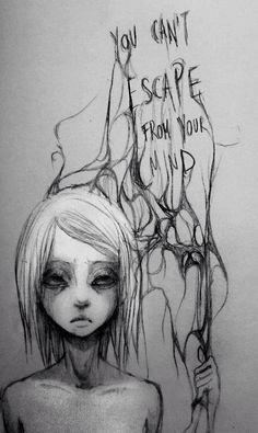 Imagem de mind, sad, and escape